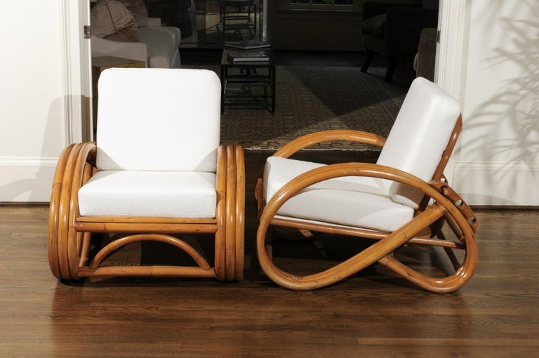 Handsome Restored Pair of Pretzel Loungers, circa 1950 For Sale 3