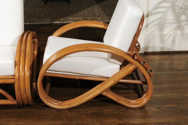 Handsome Restored Pair of Pretzel Loungers, circa 1950 For Sale 5