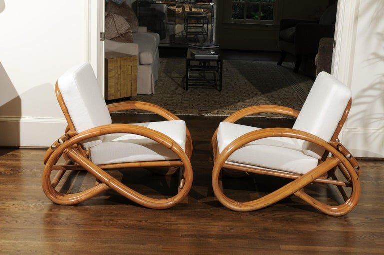 Handsome Restored Pair of Pretzel Loungers, circa 1950 For Sale 6