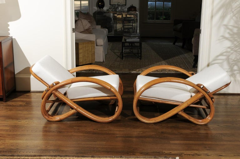 Handsome Restored Pair of Pretzel Loungers, circa 1950 For Sale 7