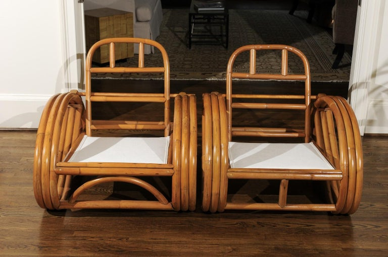 Handsome Restored Pair of Pretzel Loungers, circa 1950 For Sale 9