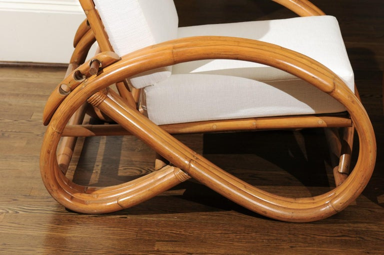 Handsome Restored Pair of Pretzel Loungers, circa 1950 For Sale 10