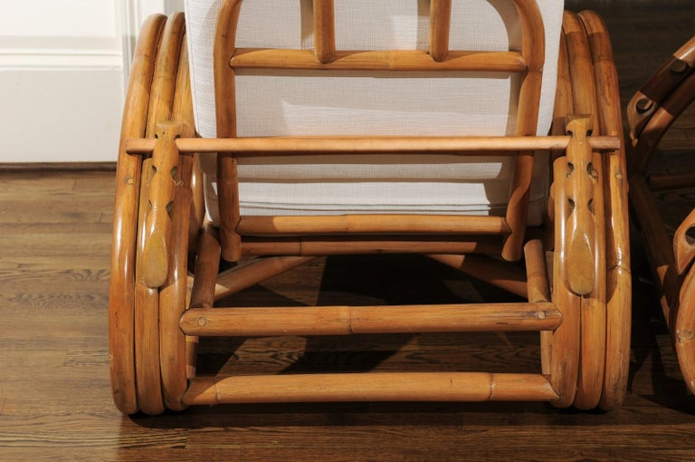 Handsome Restored Pair of Pretzel Loungers, circa 1950 For Sale 12