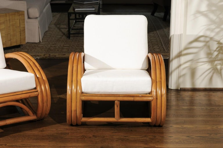 Handsome Restored Pair of Pretzel Loungers, circa 1950 In Excellent Condition For Sale In Atlanta, GA