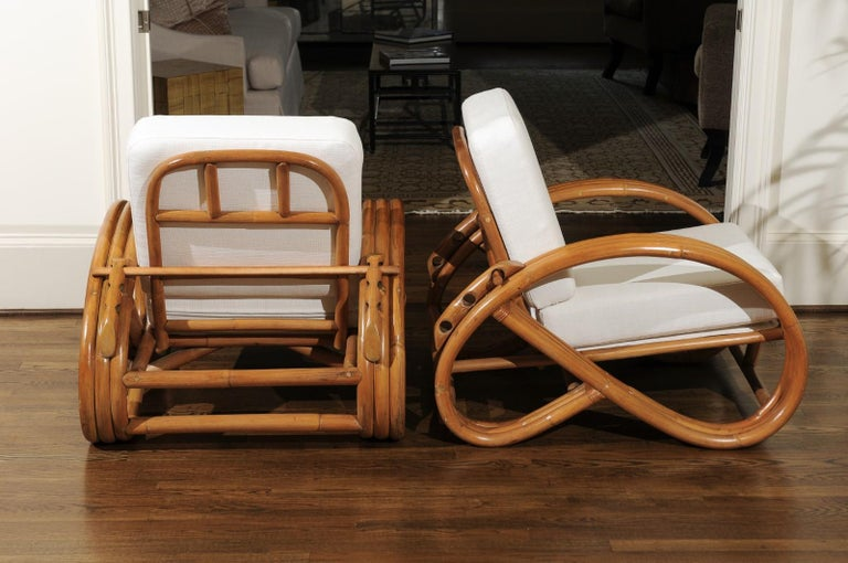 Handsome Restored Pair of Pretzel Loungers, circa 1950 For Sale 1
