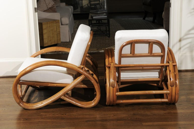 Handsome Restored Pair of Pretzel Loungers, circa 1950 For Sale 2