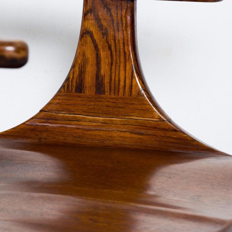 Contemporary Handsome RH Vintage Solid Oak Captain's Swivel Desk Chair Task Office Use For Sale