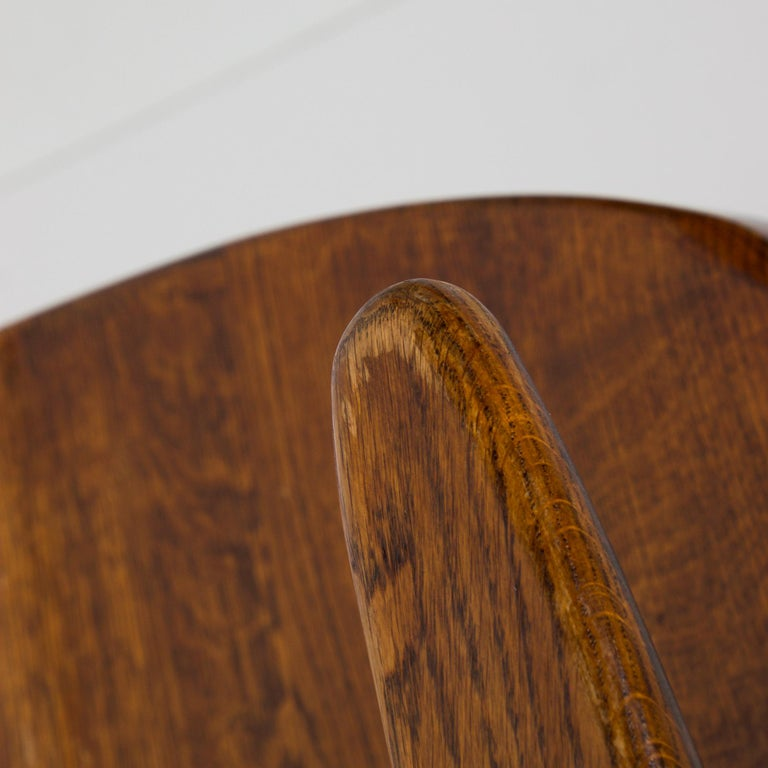 Aluminum Handsome RH Vintage Solid Oak Captain's Swivel Desk Chair Task Office Use For Sale