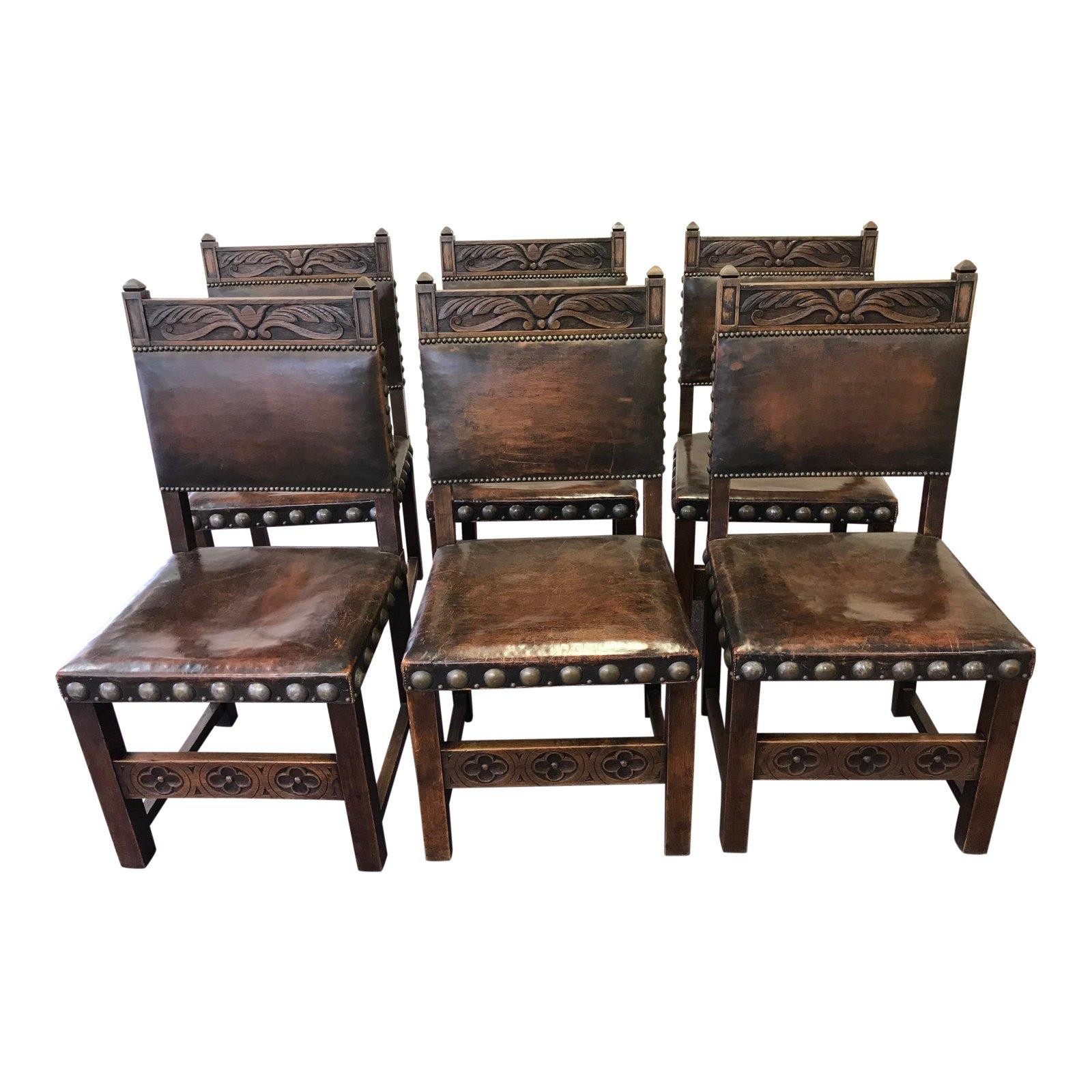 Medieval Dining Room Chairs   7 For Sale At 1stdibs