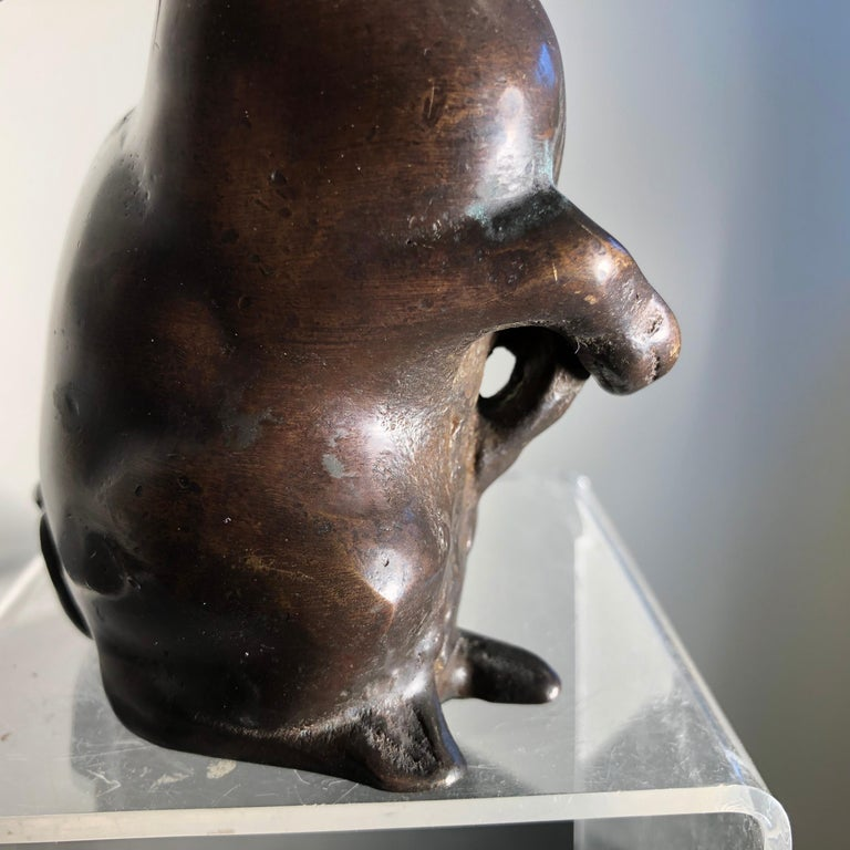 Handsome Tall Big Ears Chocolate Bronze Rabbit, Japanese Fine Details For Sale 8