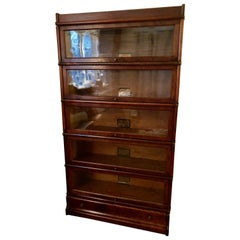 Handsome Vintage Globe Wernicke Stacking Oak and Glass Barrister Bookcase