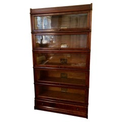 Handsome Vintage Stacking Oak and Glass Barrister Bookcase
