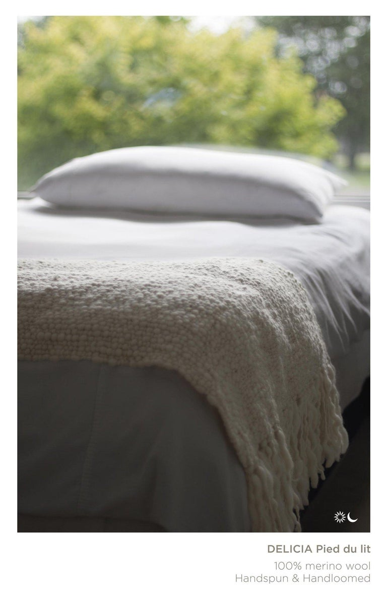 Hand-Woven Handwoven 100% Merino Wool Throw, Medium Weave, Made in Argentina For Sale