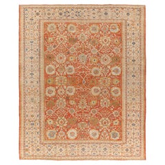 Handwoven 19th Century Antique Persian Sultanabad Rug