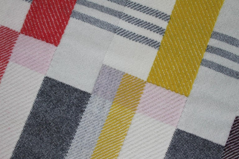 British Handwoven 'Altitude Cent' Double Faced Bauhaus Merino Wool Wall Hanging For Sale