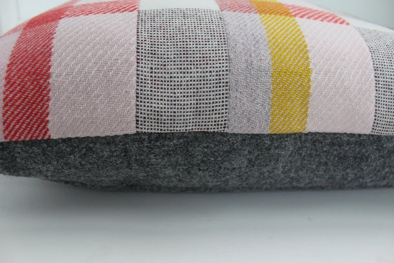 British Handwoven 'Altitude Cent II' Bauhaus Merino Wool Large Cushion Pillow For Sale