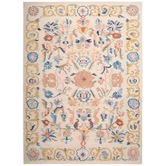 Handwoven Anatolian Aubusson Kilim Carpet