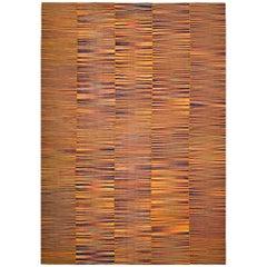 Handwoven Bright Mazandaran Kilim Carpet