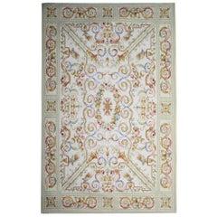 Handwoven Carpet Needlepoint Aubusson Style Rug