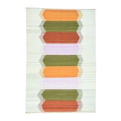 Handwoven Colorful Kilim Pure Wool Flat-Weave Oriental Rug