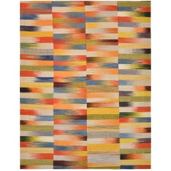Handwoven Colorful Mazandaran Kilim Carpet