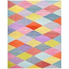 Handwoven Colourful Kilim Carpet