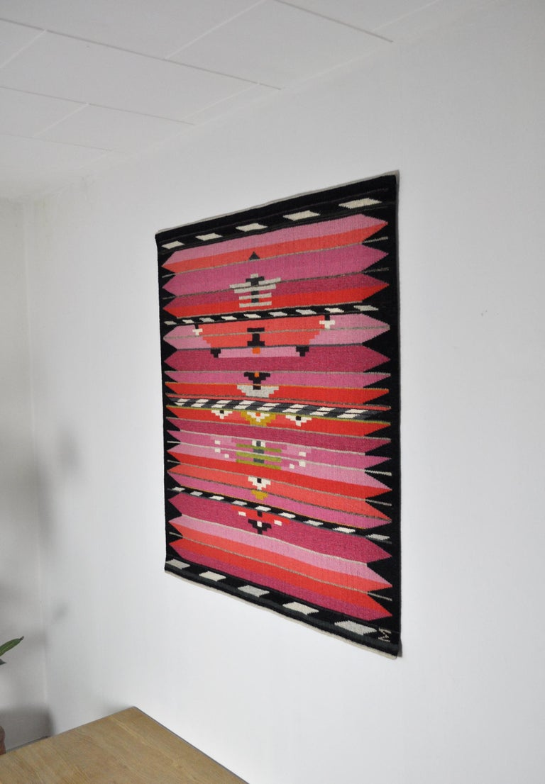Modern Handwoven Contemporary Scandinavian Wool Tapestry For Sale