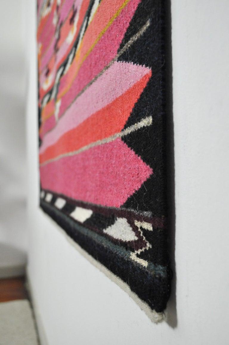 Danish Handwoven Contemporary Scandinavian Wool Tapestry For Sale