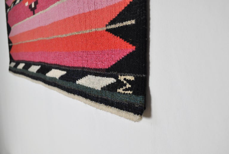 Danish Handwoven Contemporary Scandinavian Wool Tapestry For Sale