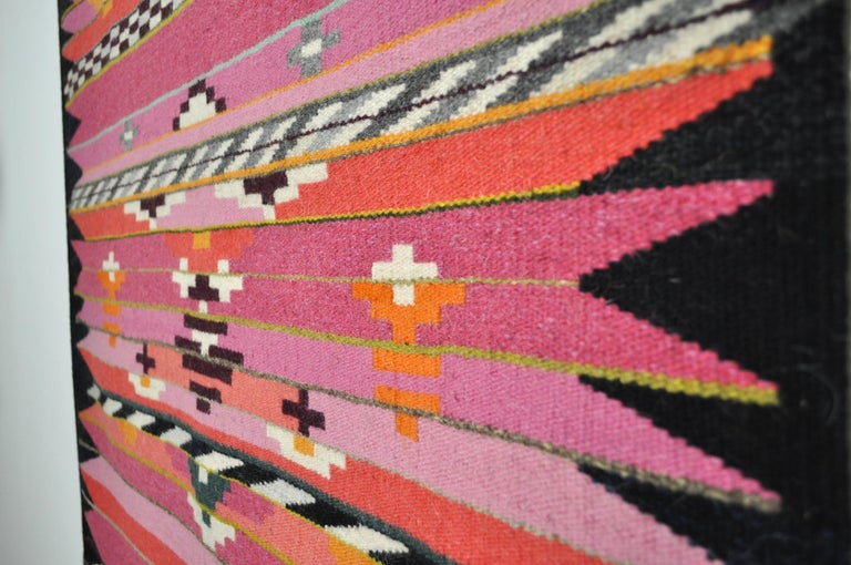 Hand-Woven Handwoven Contemporary Scandinavian Wool Tapestry For Sale
