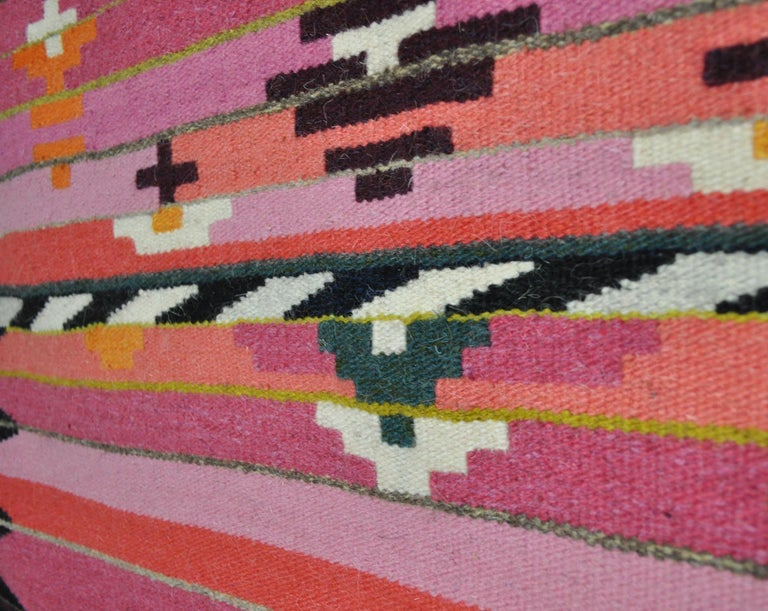 Handwoven Contemporary Scandinavian Wool Tapestry For Sale 1