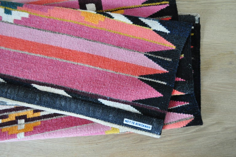 Handwoven Contemporary Scandinavian Wool Tapestry For Sale 3