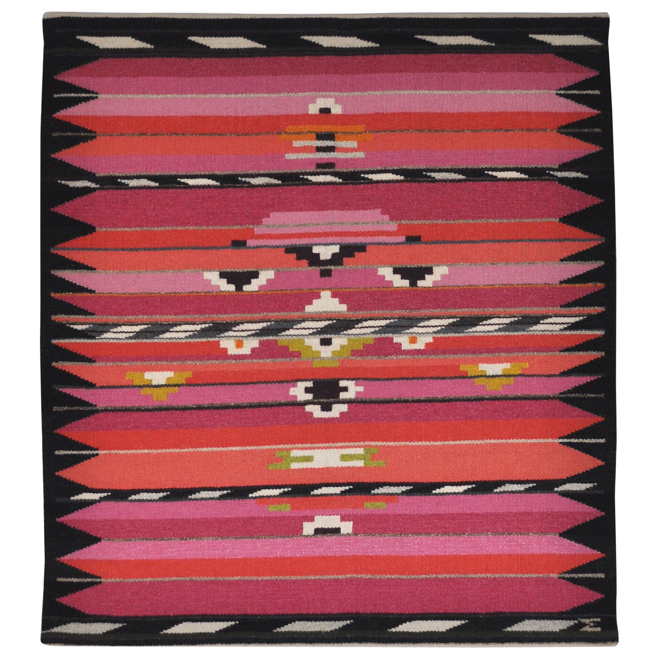 Handwoven Contemporary Scandinavian Wool Tapestry