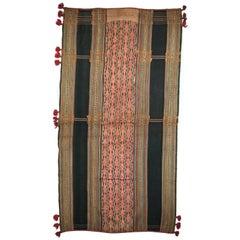 Handwoven Cotton Sarong Textile Central Highlands, Vietnam, Mid-20th Century