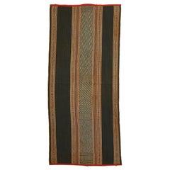 Handwoven Cotton Three-Part Skirt Textile, Central Highlands, Vietnam