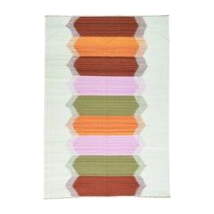 Handwoven Dazzling Kilim Pure Wool Flat-Weave Oriental Rug