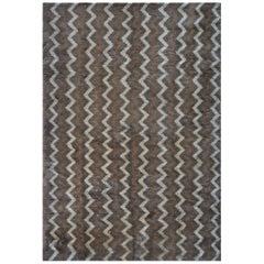 Handwoven Deep Pile Mohair Moroccan Inspired Rug