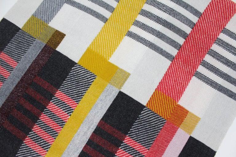 Mid-Century Modern Handwoven 'Etterbeek' Bauhaus  Merino Wool Wall Hanging For Sale