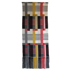 Handwoven 'Etterbeek' Bauhaus  Merino Wool Wall Hanging