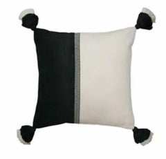 Handwoven Fine Cotton Color Block Throw Pillow from Peru, in Stock