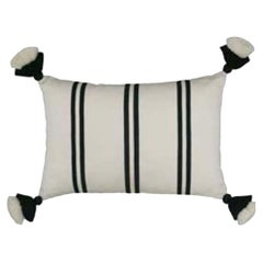 Handwoven Fine Cotton from Peru Thin Stripe Throw Pillow, in Stock, ON SALE