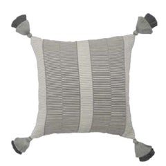 Handwoven Fine Cotton Luna Grid Throw Pillow, in Stock