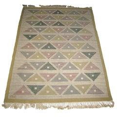 Handwoven Flat-Weave Carpet by Sigvard Bernadotte