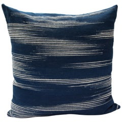 Handwoven Indigo Floor Pillow