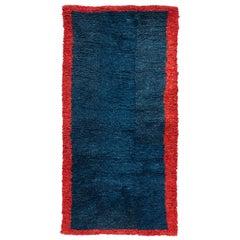 Handwoven Indigo Tibetan Rug