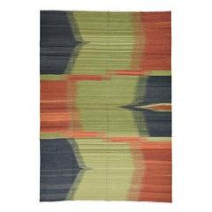 Handwoven Kilim 100 Percent Wool Flat-Weave Oriental Rug