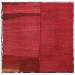 Handwoven Kilim Carpet with Vintage Wool