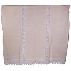 Handwoven Linen Cover from the 1910s with Its Rare Original Yellow Color