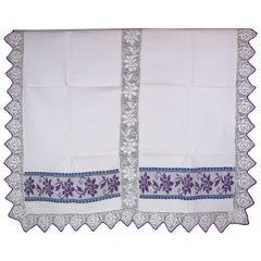 Handwoven Linen Cover from the 1950s