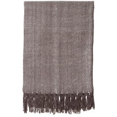 Handwoven Llama Wool & Silk Double Fringe Throw Pillow from Patagonia, in Stock